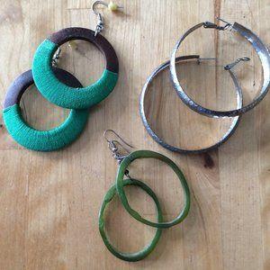 3-for-$15: Three Pairs Hoop Earrings